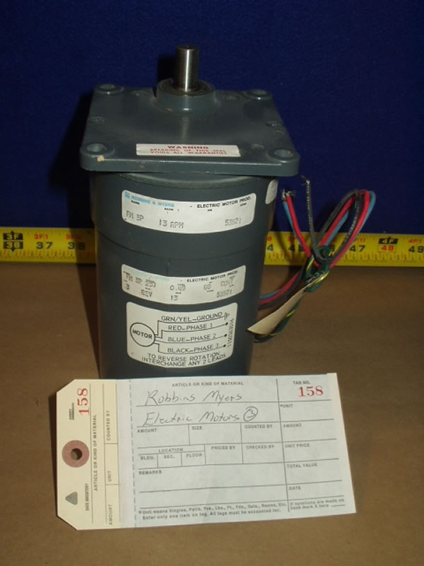 Robbins myers electric motor model fm3p for Robbins and myers replacement motors