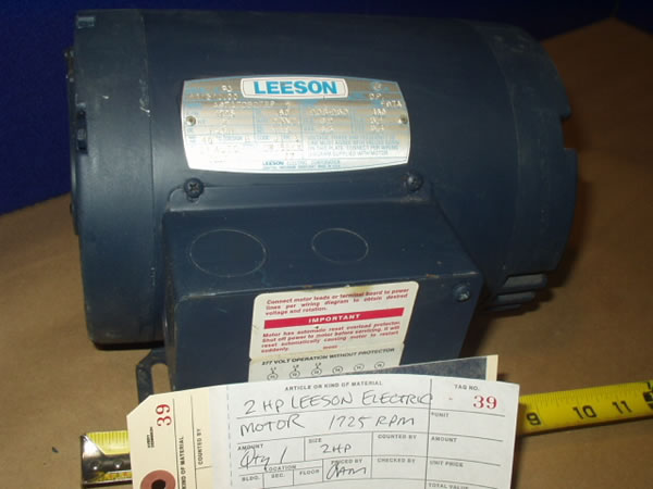 2 hp leeson electric motor for Leeson 1 2 hp dc motor